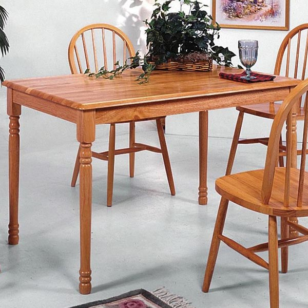 Windsor Oak Solid Slim Rectangular Leg Dining Table
