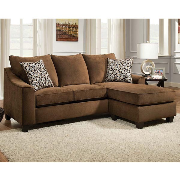 Elizabeth Chocolate Reversible Chaise Sectional Carthage Furniture