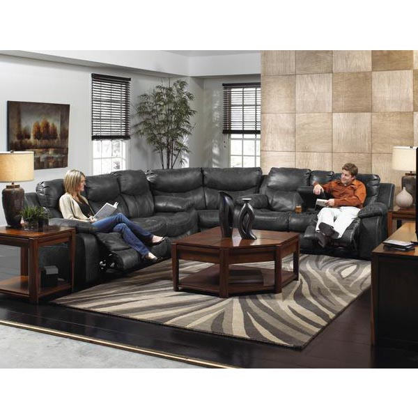 Catalina Steel Reclining 3-Piece Sectional Sofa – Carthage ...