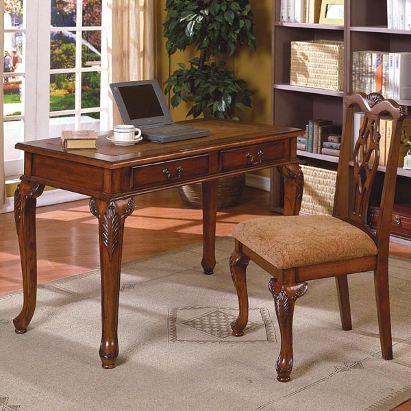 Fairfax Home Office Desk Amp Chair In Brown Cherry Finish