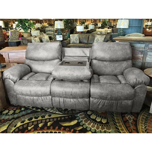 Amazing Santa Fe Grey Reclining Sofa With Drop Down Table Carthage Gmtry Best Dining Table And Chair Ideas Images Gmtryco