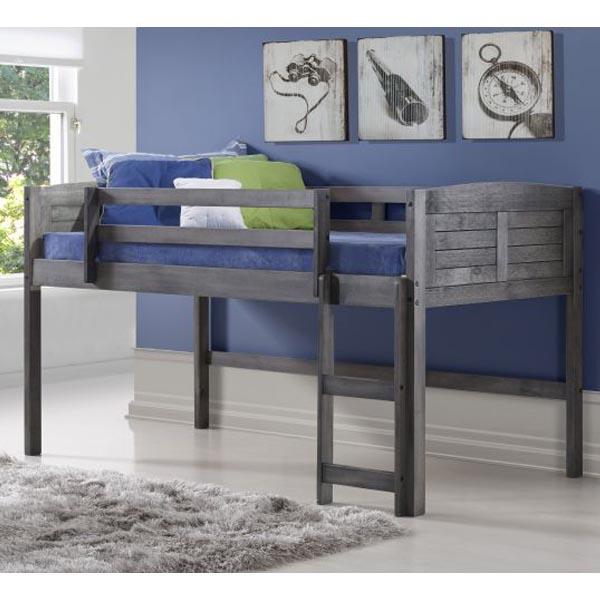 Fantastic Antique Grey Kids Twin Louver Low Loft Bed Carthage Furniture Download Free Architecture Designs Grimeyleaguecom