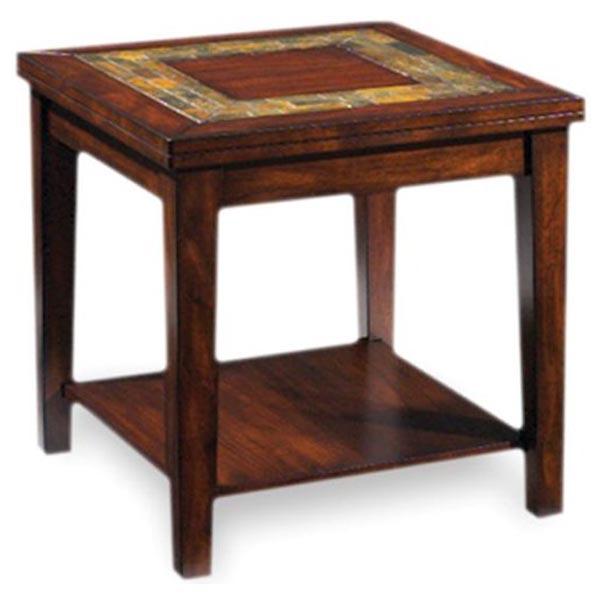 Phenomenal Davenport Transitional End Table With Slate Inlay Carthage Customarchery Wood Chair Design Ideas Customarcherynet