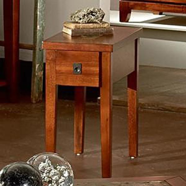 Excellent Davenport Transitional Chairside End Table With Slate Inlay Customarchery Wood Chair Design Ideas Customarcherynet